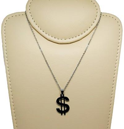 Corrente aço com cifrão dólar